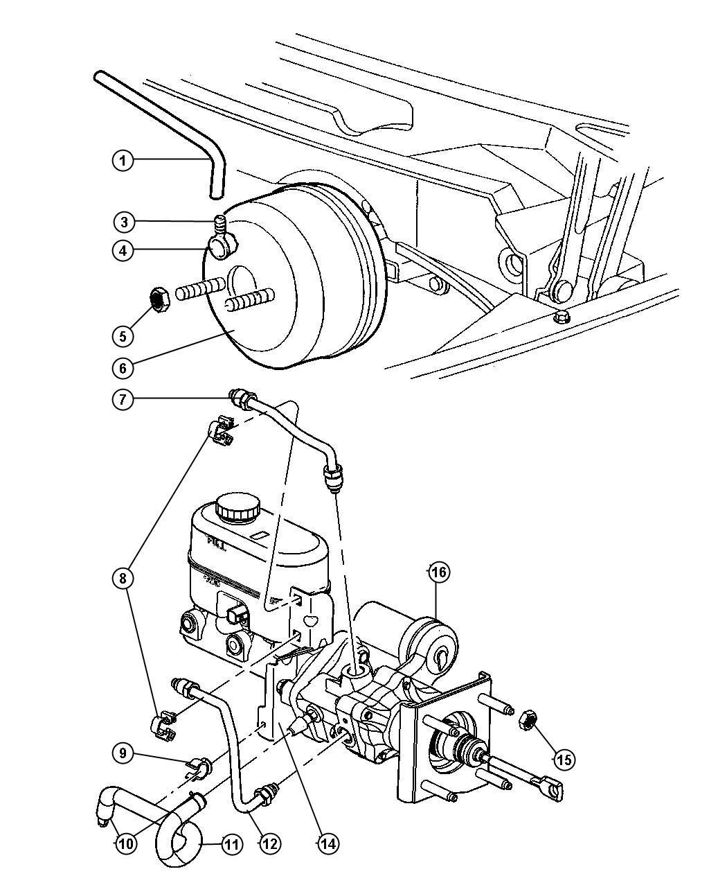 Dodge Ram Hydro Booster Power Brake Dual Rear