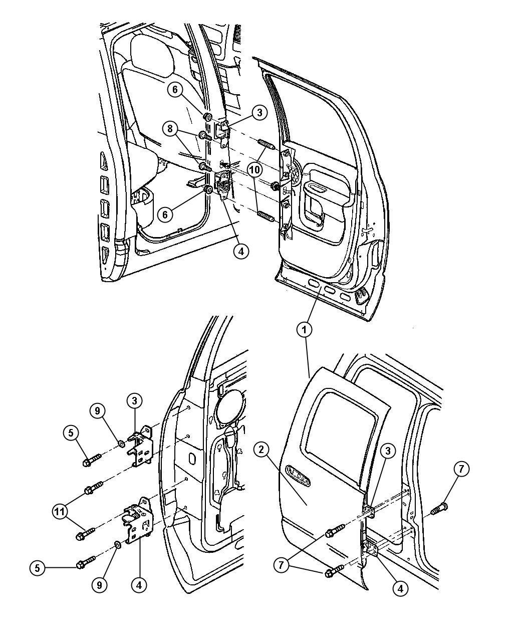 Dodge Ram Panel Door Outer Rear Door Outer