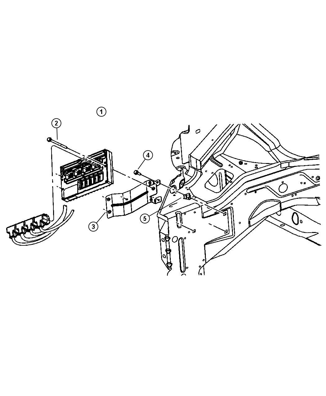 Dodge Grand Caravan Module Powertrain Control Generic