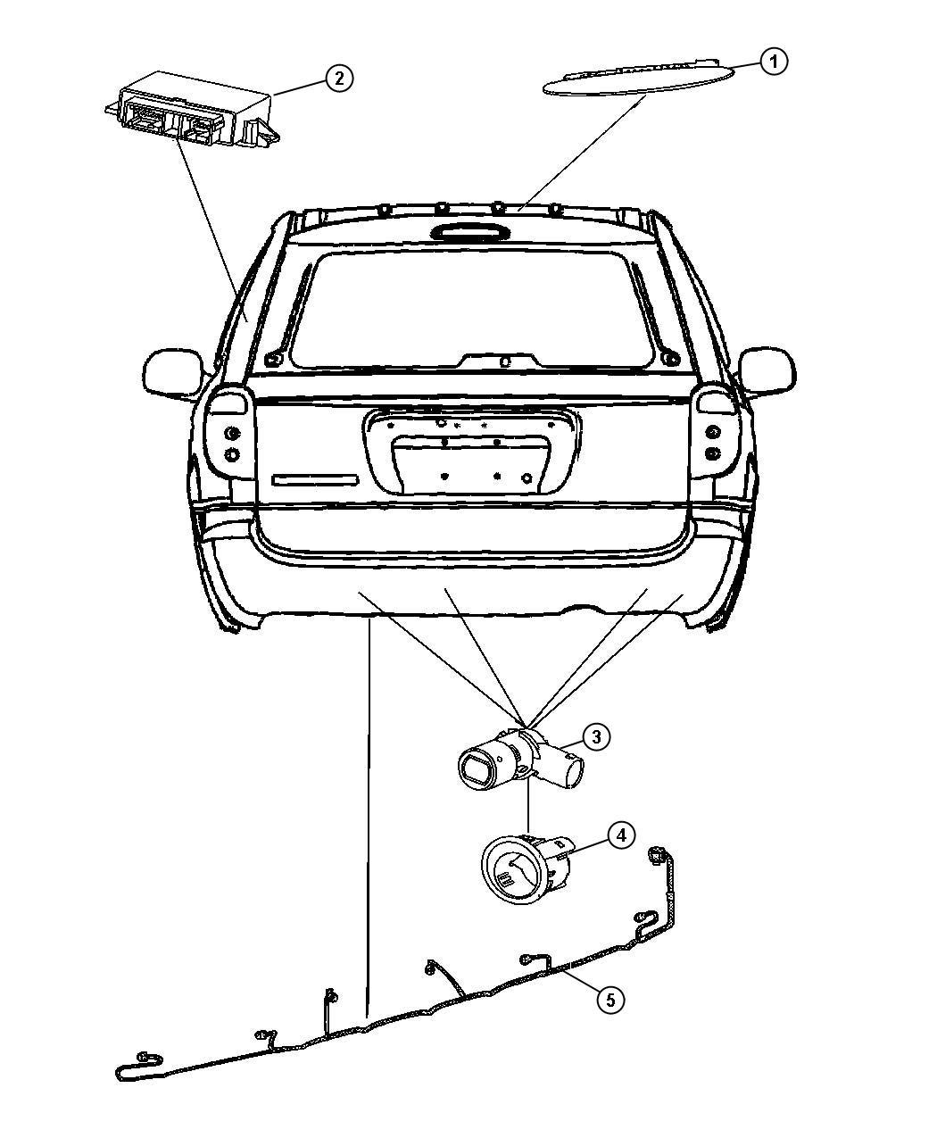 Dodge Caravan Wiring Rear Fascia Park Assist Sensor