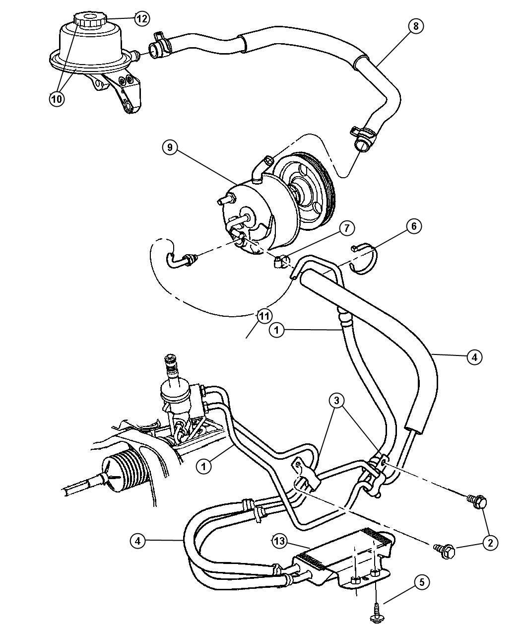Dodge Caravan Clamp Power Steering Hose 790 Dia