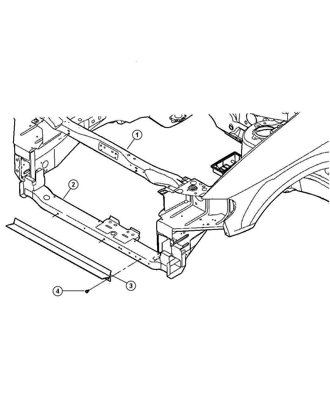 Dodge Caravan Isolator Crossmember Lower Radiator