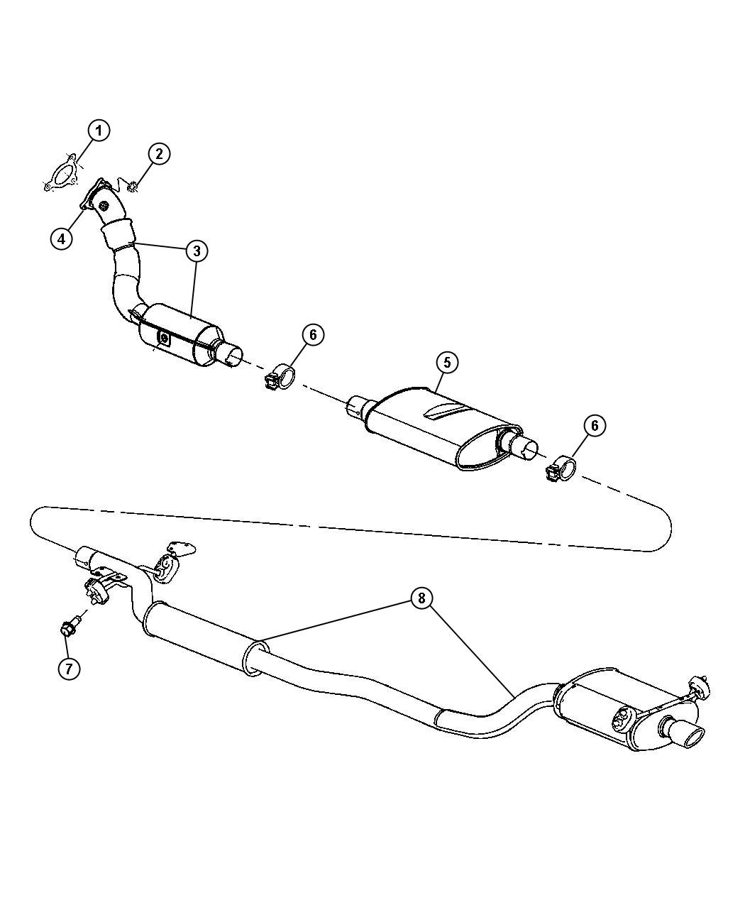 Jeep Compass Muffler Used For Muffler And Tailpipe