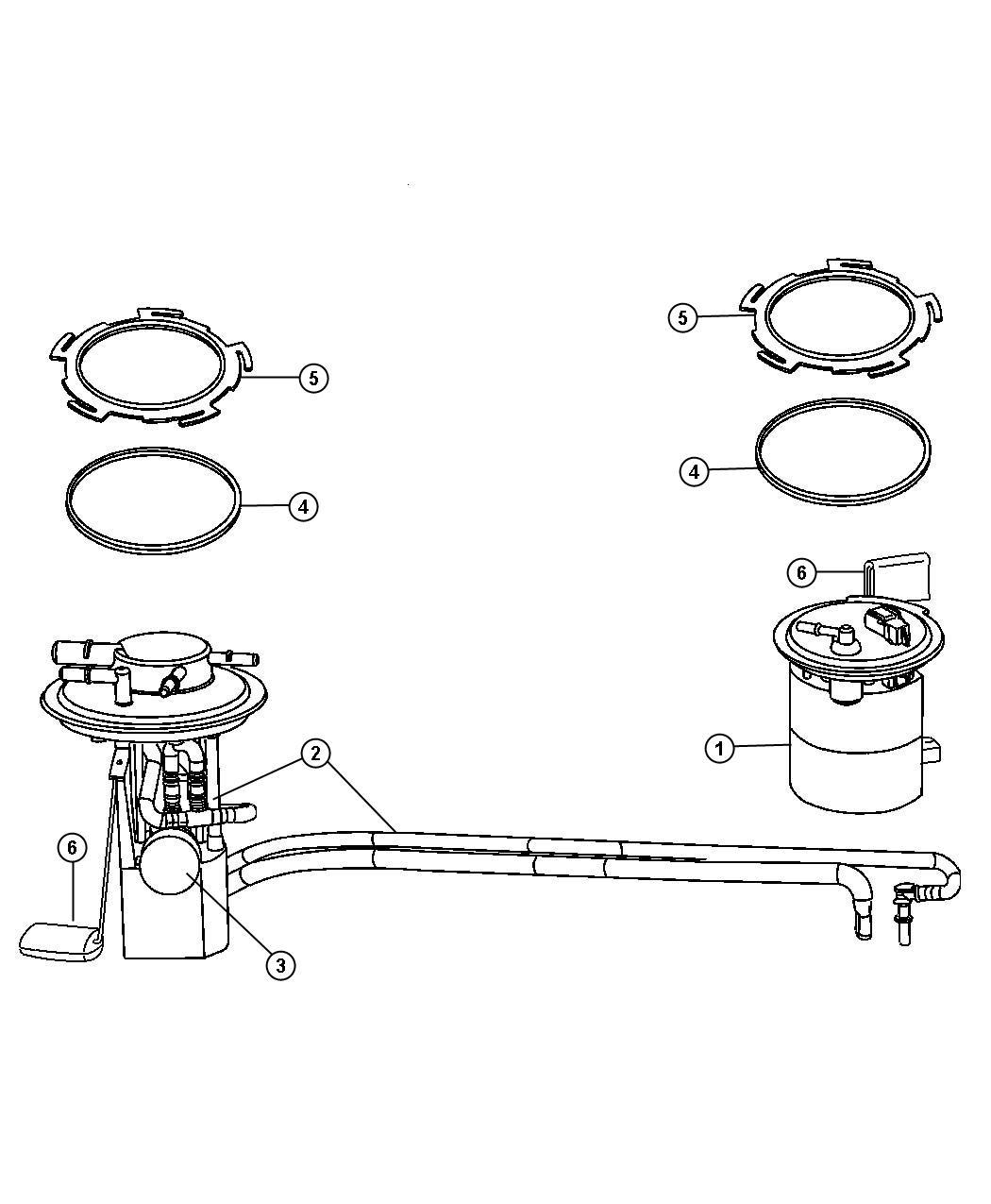 Chrysler Pacifica Module Kit Fuel Pump Level Unit