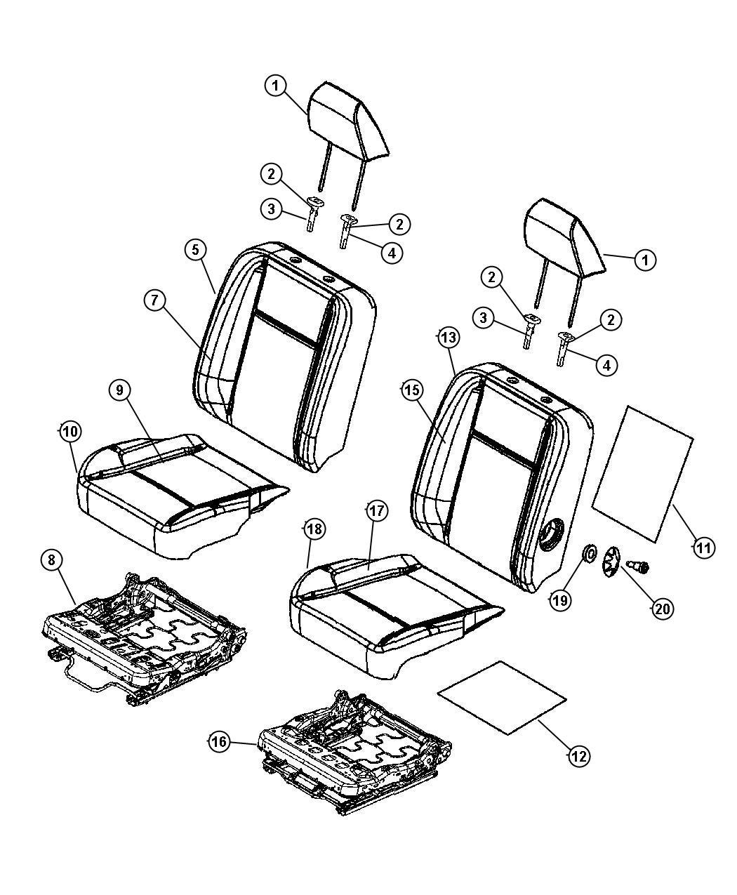 Dodge Ram Pad Front Seat Back Heater Element