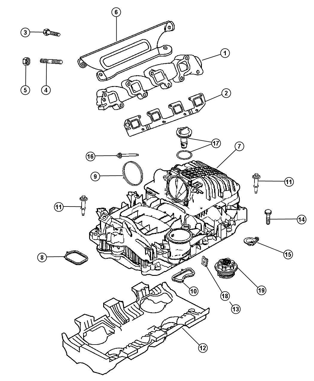 Dodge Ram Manifold Package Intake Cab