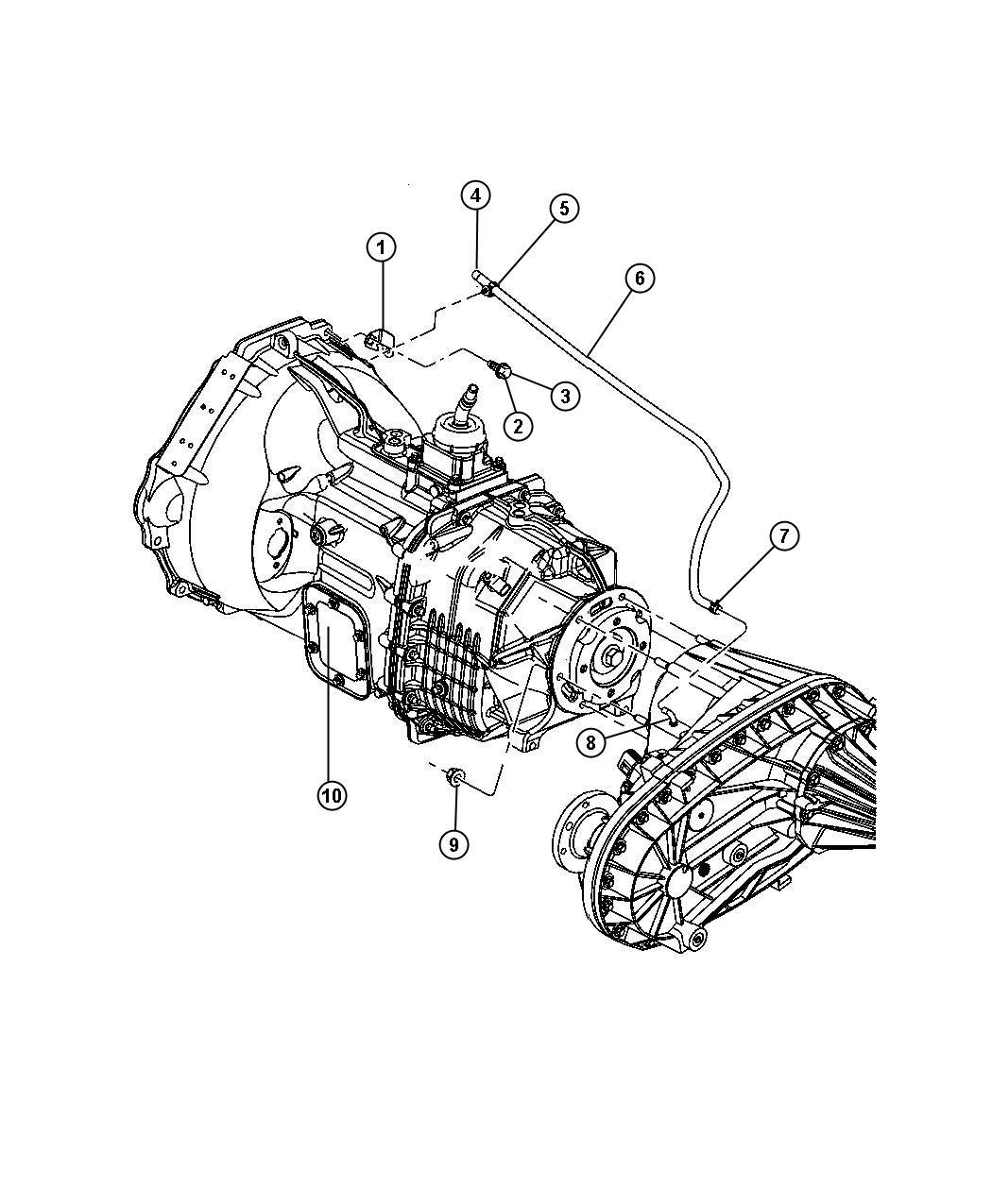 Dodge Ram Clip Transfer Case Vent Hose For Body 94