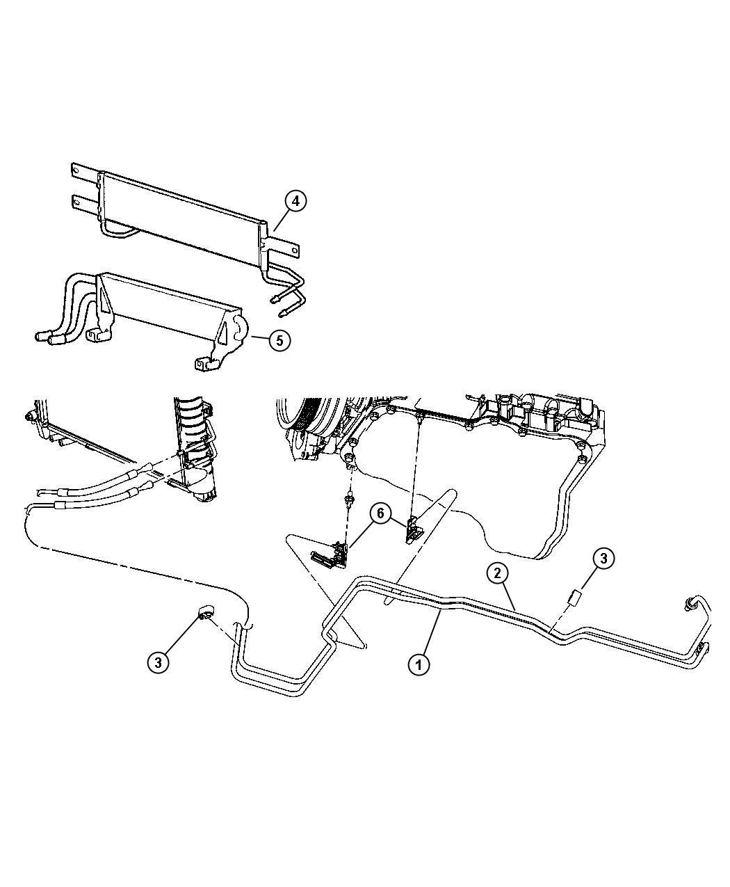 Jeep Patriot Cooler Transmission Oil Engine