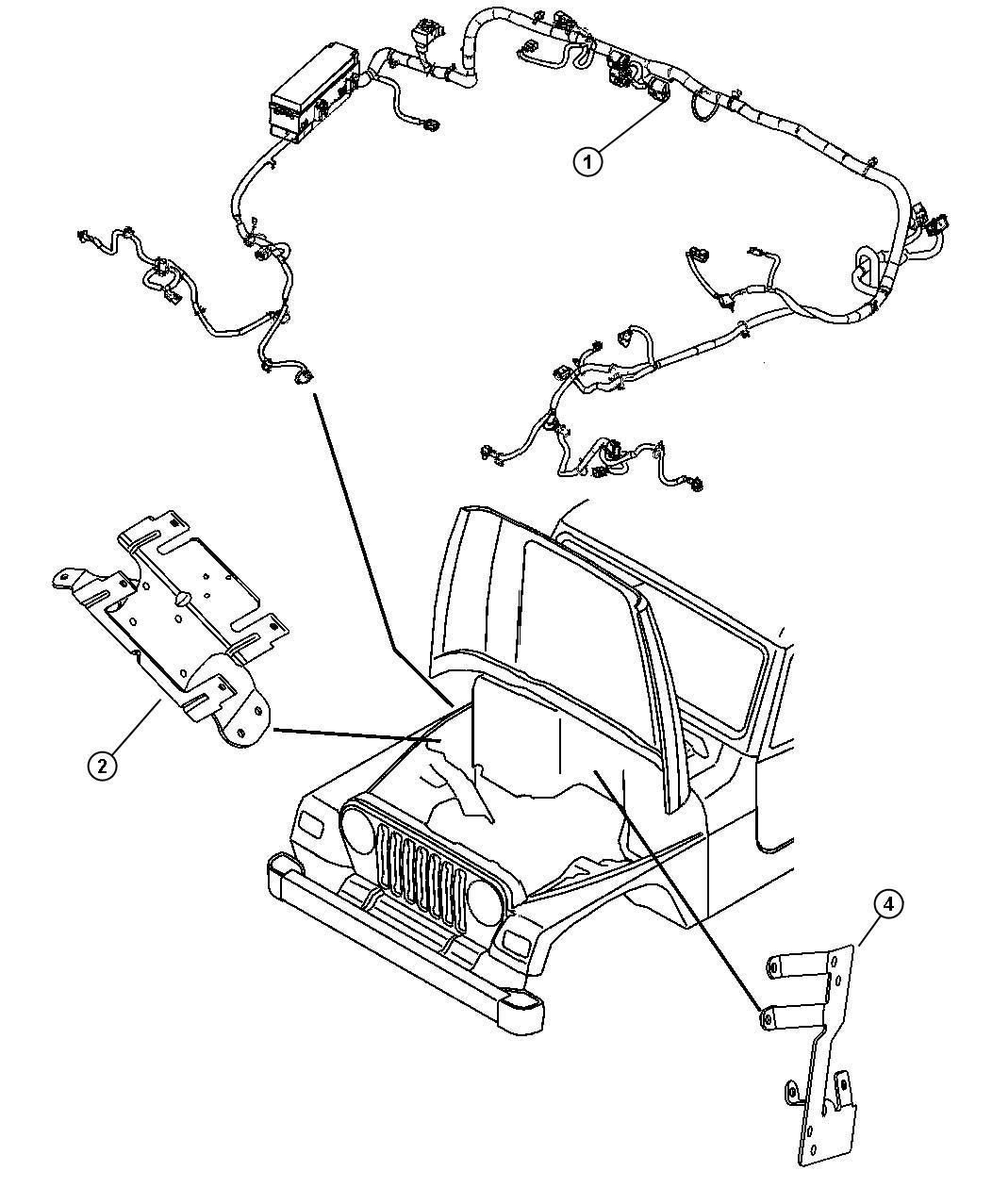 Jeep Wrangler Wiring Dash Rear Front Lok