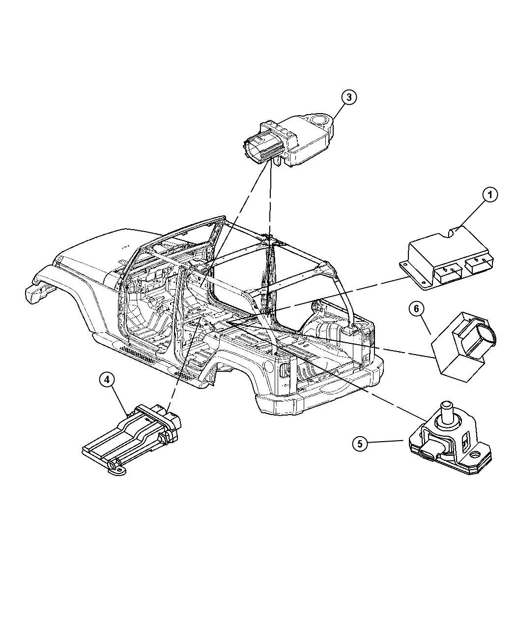 Jeep Wrangler Sensor Strain Gage Strain Gauge Trim
