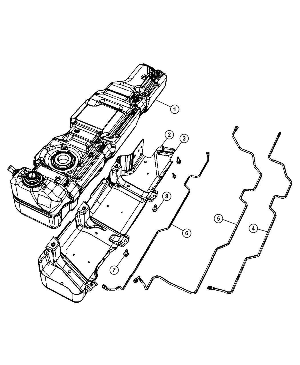 Jeep Wrangler Tank Fuel Nf3 17 6 Gallon Module