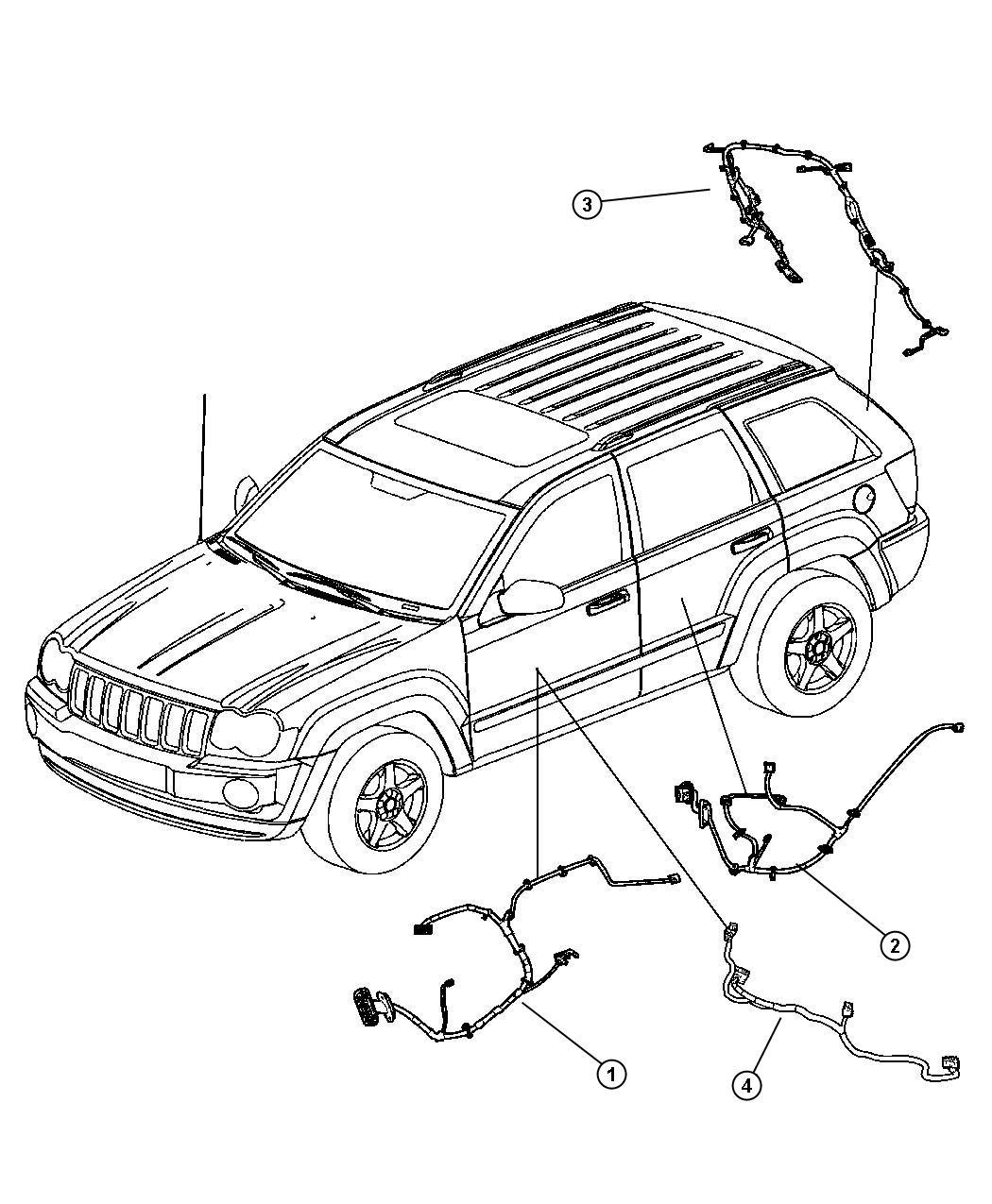 Jeep Grand Cherokee Wiring Rear Door Right Or Left