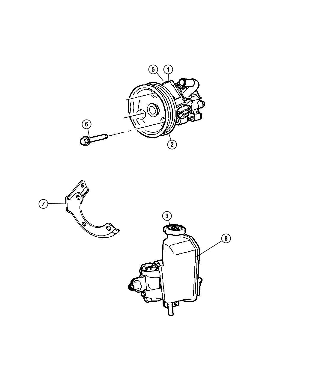 Jeep Grand Cherokee Pump Assembly Power Steering With