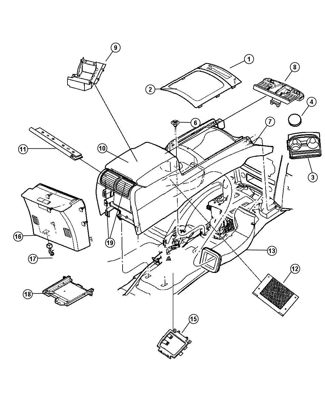 Jeep Grand Cherokee Bezel Gear Shift Indicator Trim