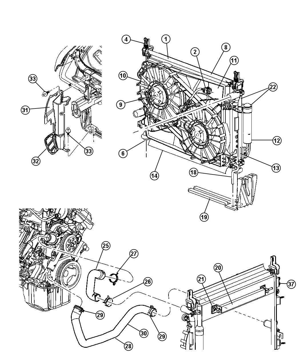 Dodge Magnum Radiator Engine Cooling Maximum Duty