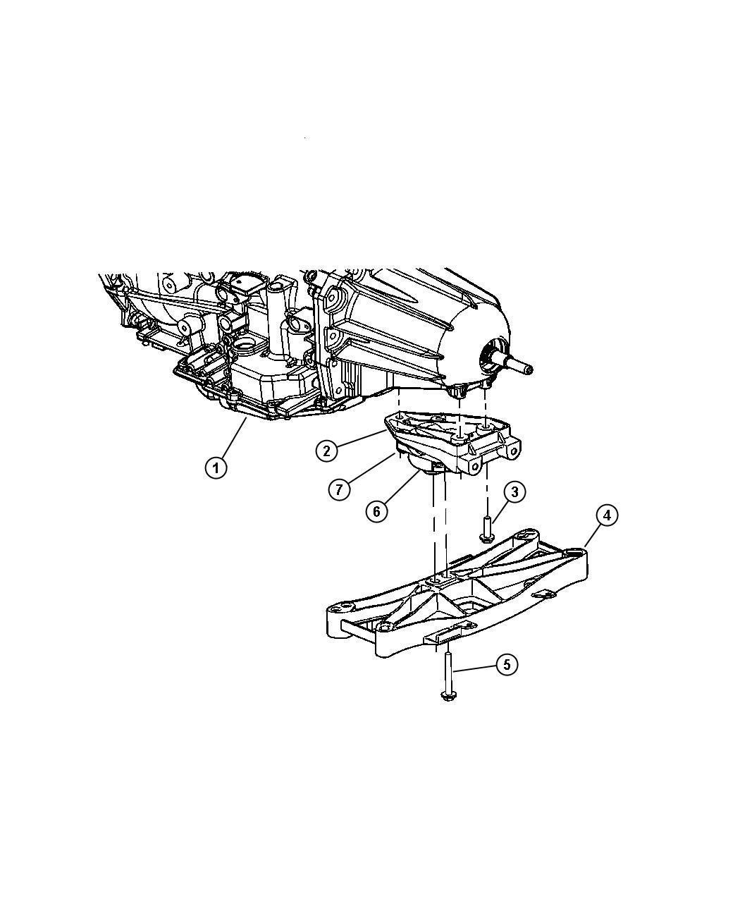 Chrysler 300 Crossmember Transmission Engine Mount