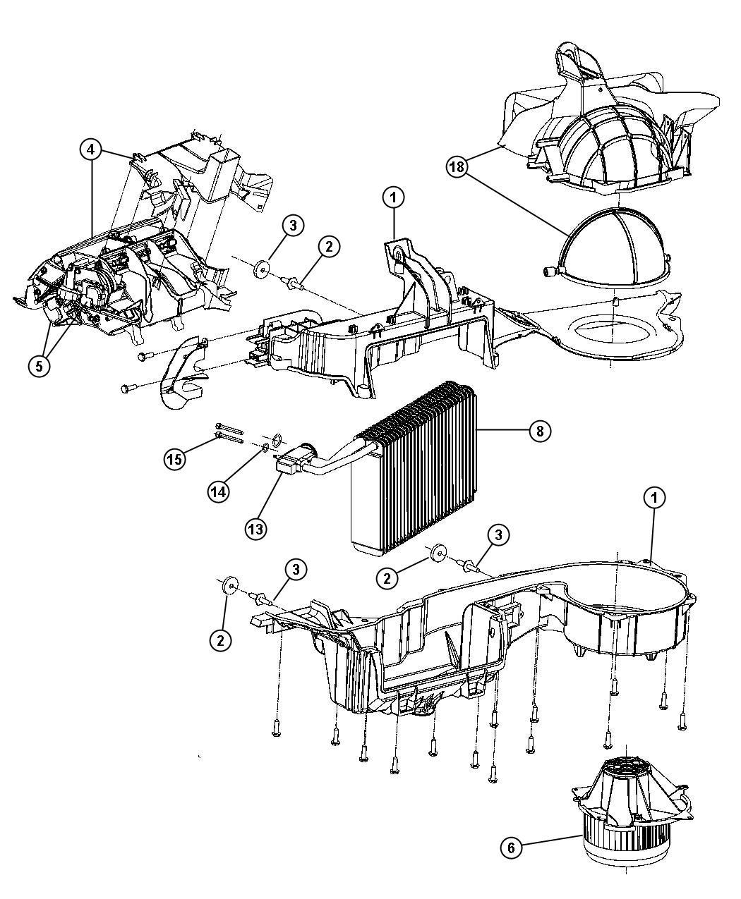 Dodge Magnum Housing Distribution Air Conditioning