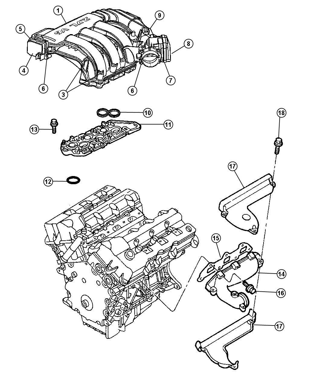 Dodge Magnum Pad Engine Foam Eer Intake Manifold