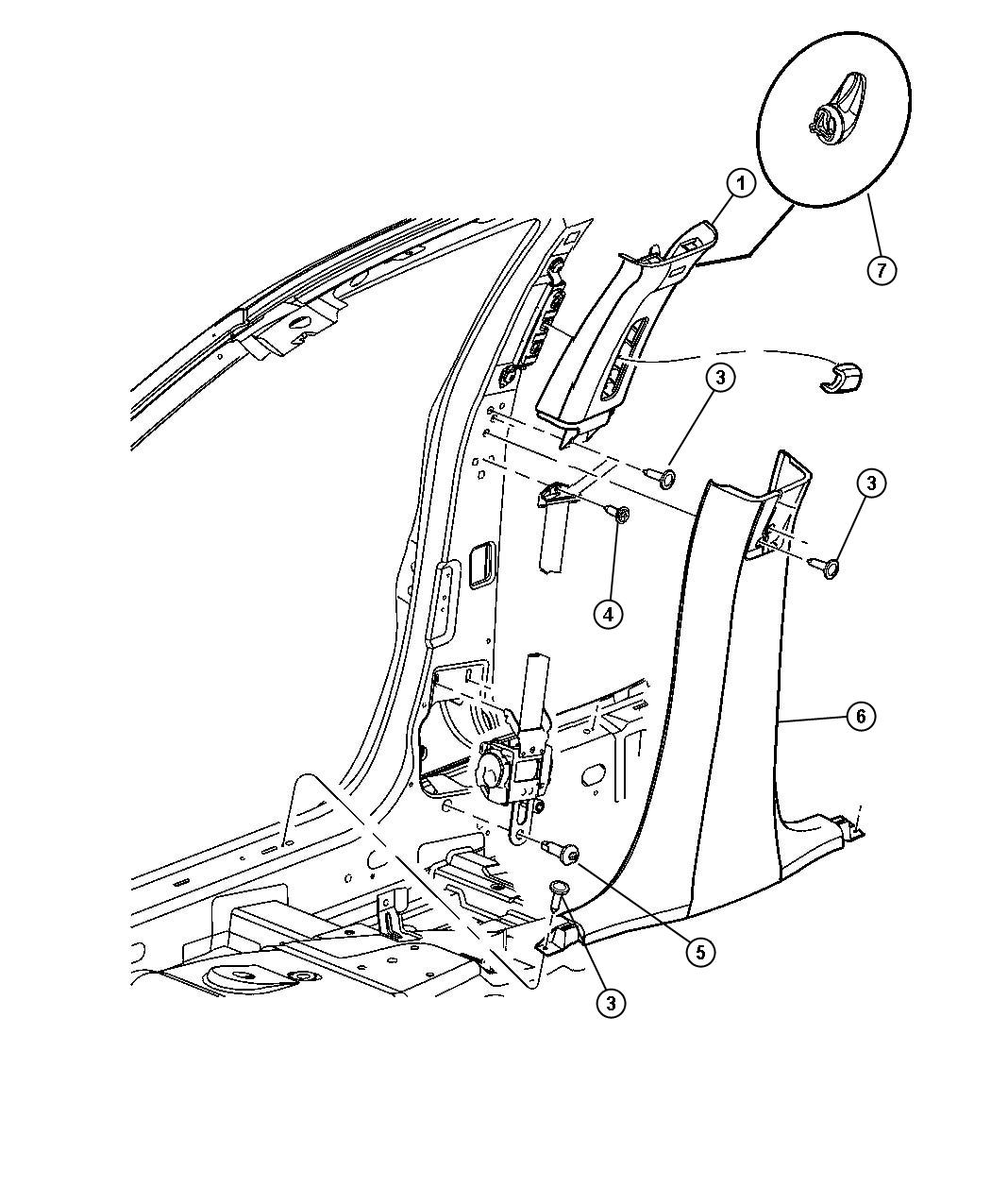 Chrysler 300 Cover B Pillar Trim Panel Trim All Trim
