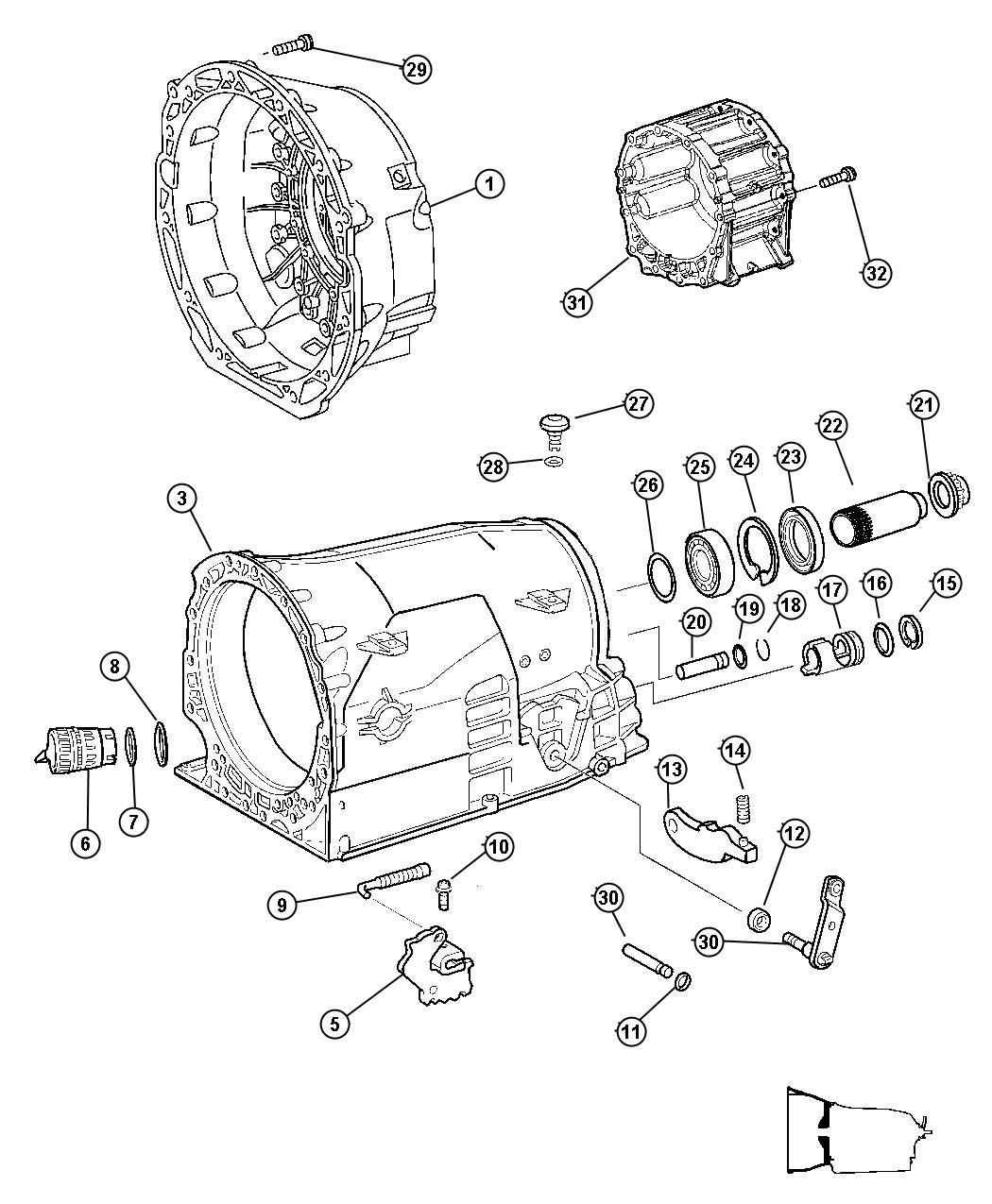 Chrysler 300 Breather Transmission Case Related