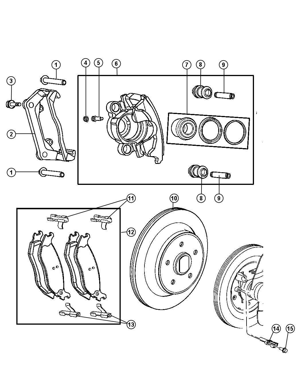 Dodge Durango Pad Kit Rear Disc Brake Magneti
