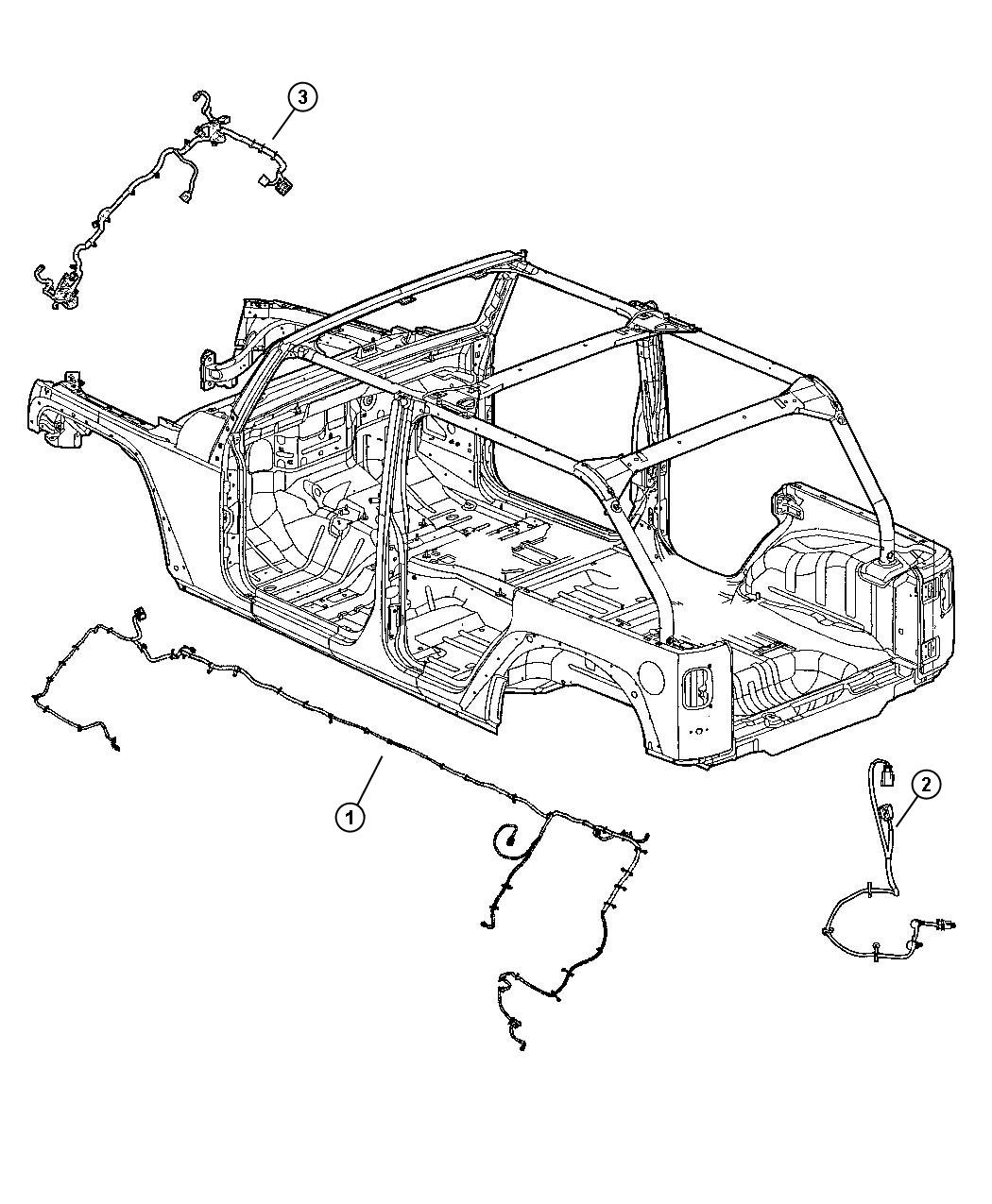 Jeep Wrangler Wiring Chassis Front Disconnecting