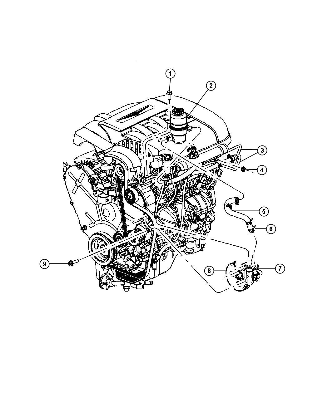Chrysler Pacifica Pump Assembly Power Steering With