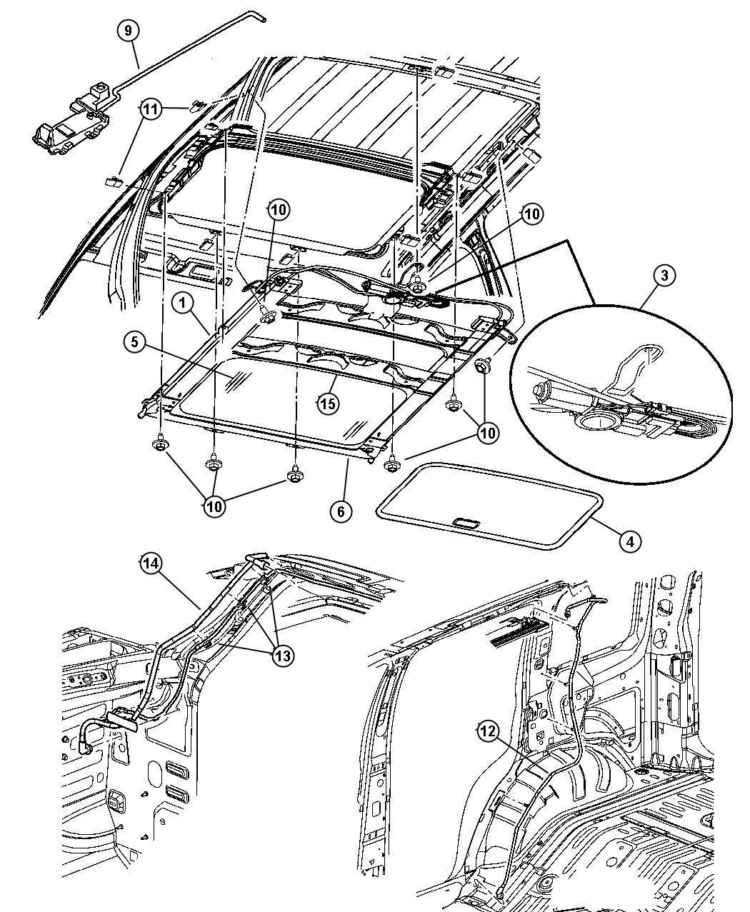 Jeep Liberty Module Sunroof Trim All Trim Codes