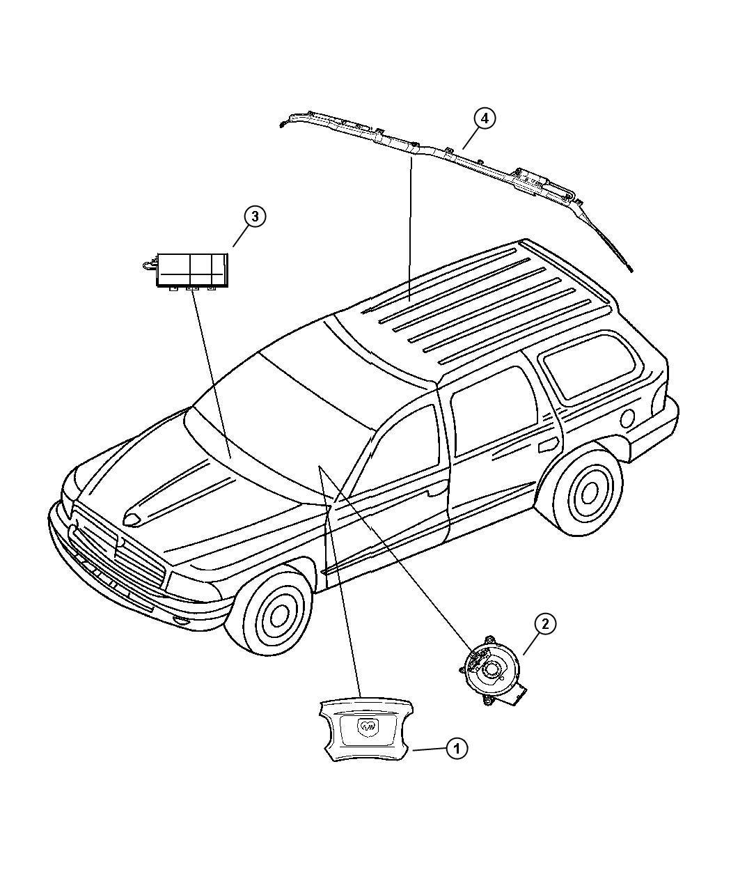 Chrysler Aspen Clockspring Steering Column Control Module
