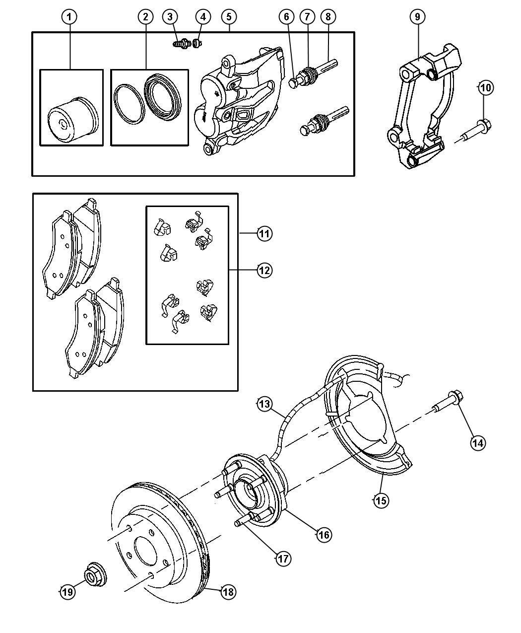 Dodge Durango Caliper Assembly Disc Brake Front