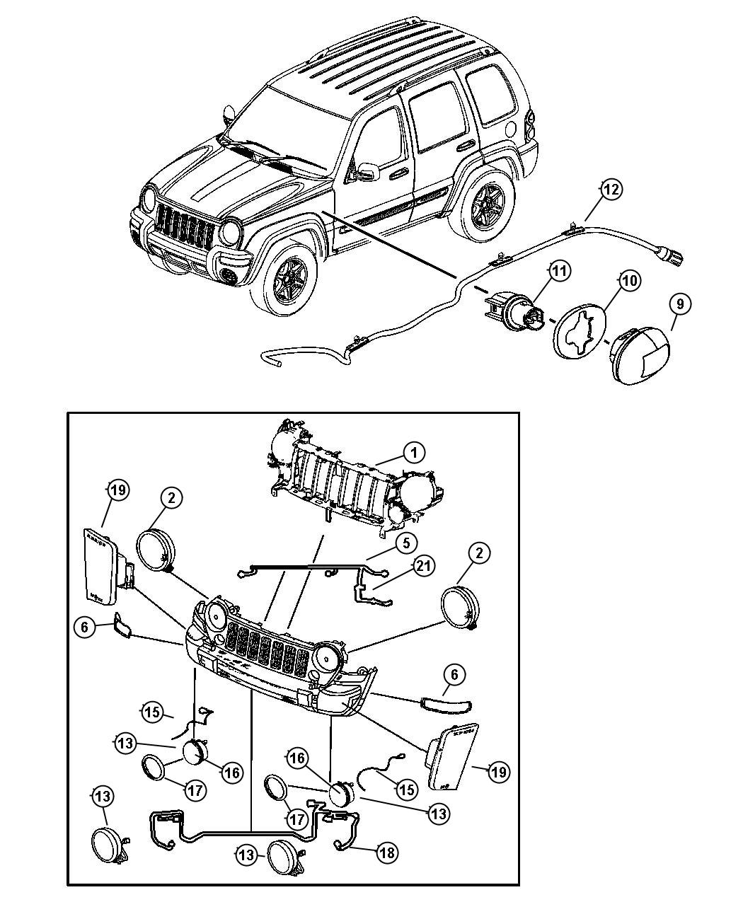 Jeep Liberty Socket Side Marker Headlamp Leveling System