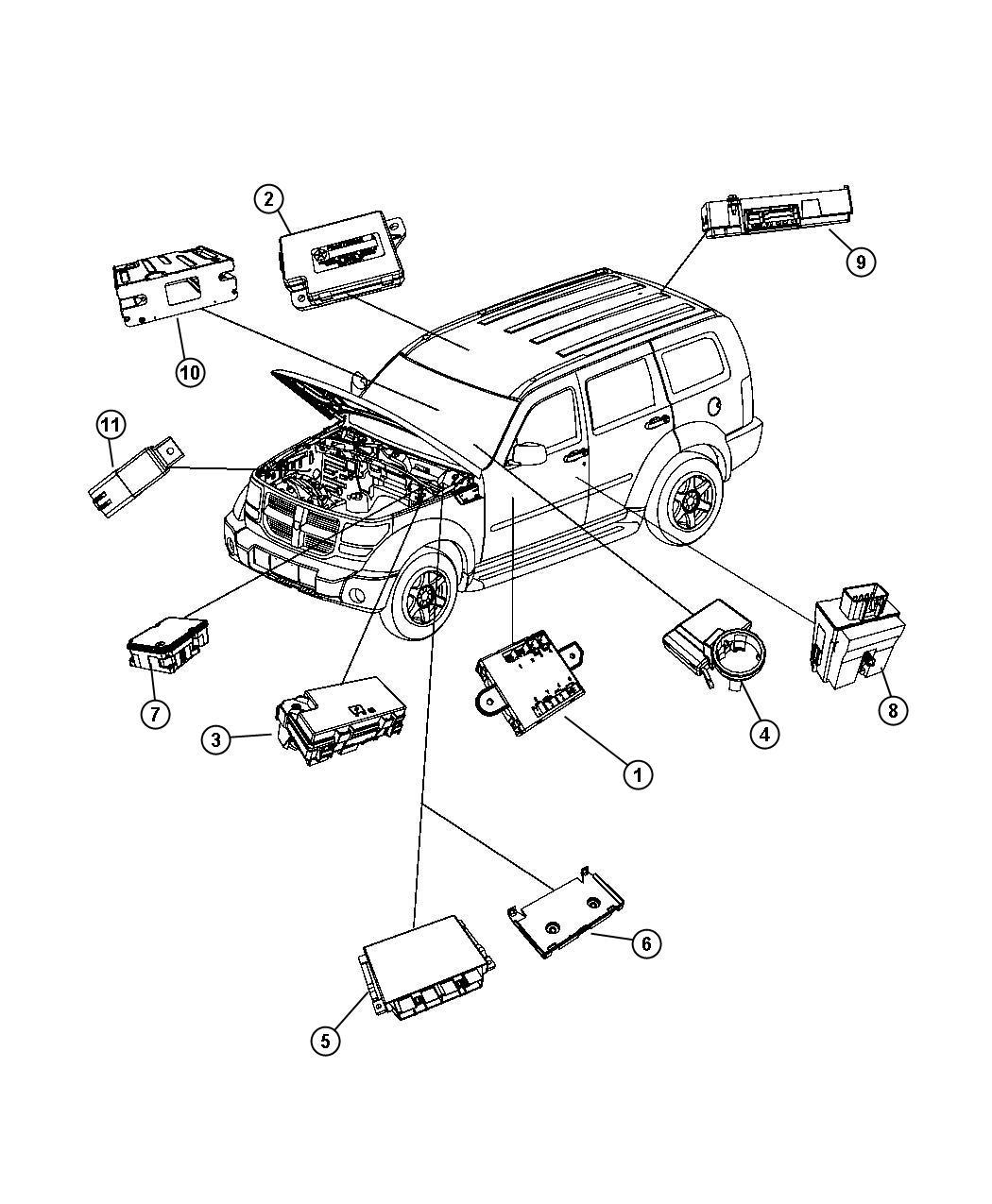 Dodge Nitro Module Anti Lock Brakes Hcu