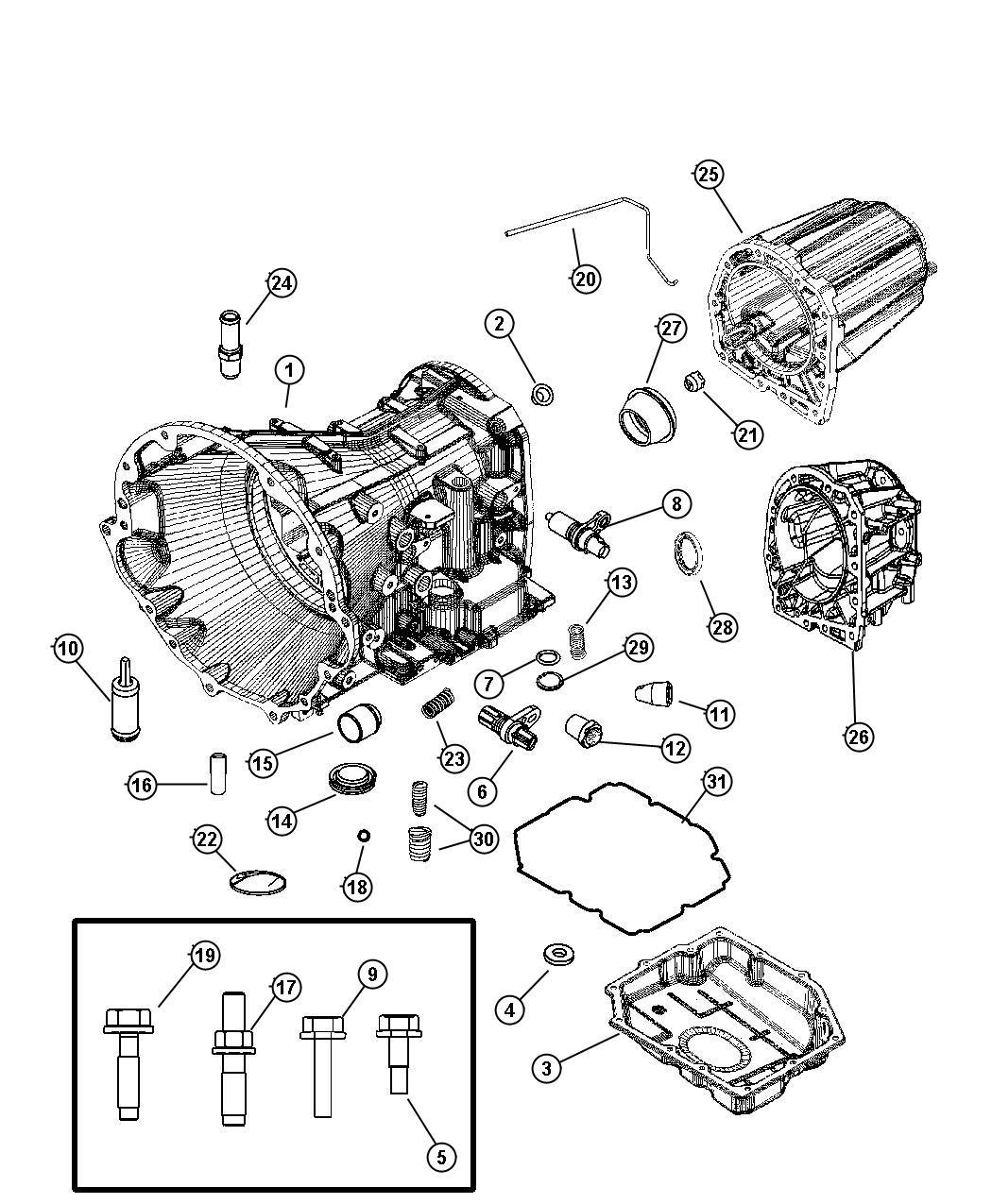 Dodge Nitro Adapter Transfer Case Transmission