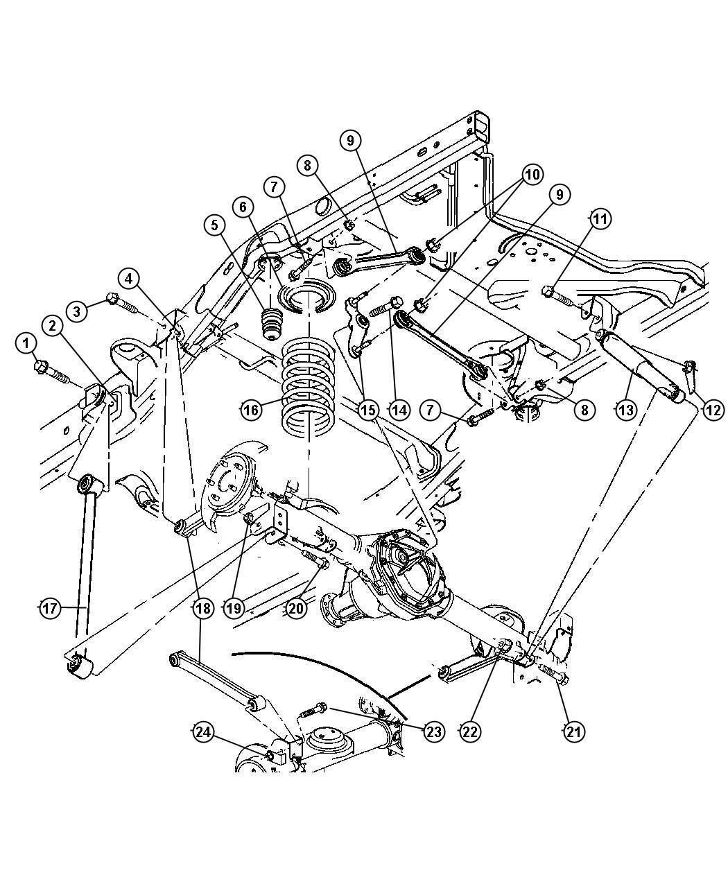 Chrysler Aspen Arm Lower Control Rear Suspension