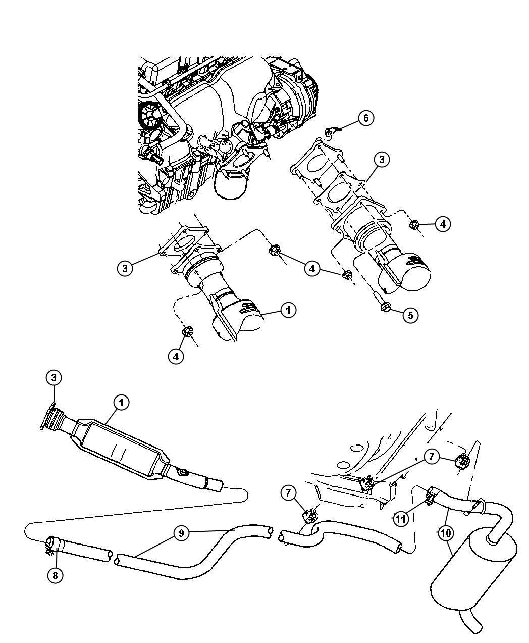 Chrysler Pt Cruiser Converter Catalytic Pre Cat To Turbo