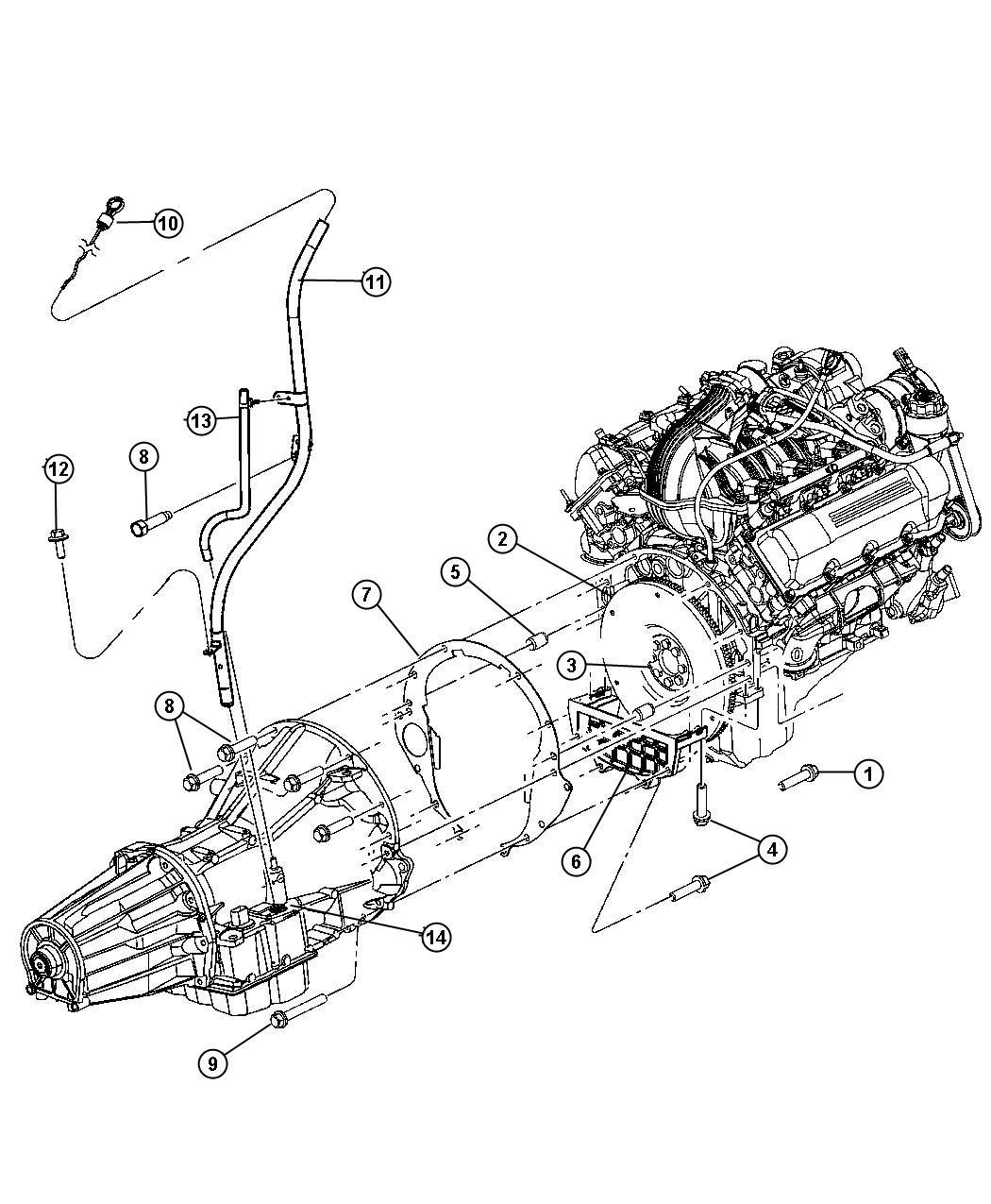 Chrysler 300 Indicator Transmission Fluid Level Related