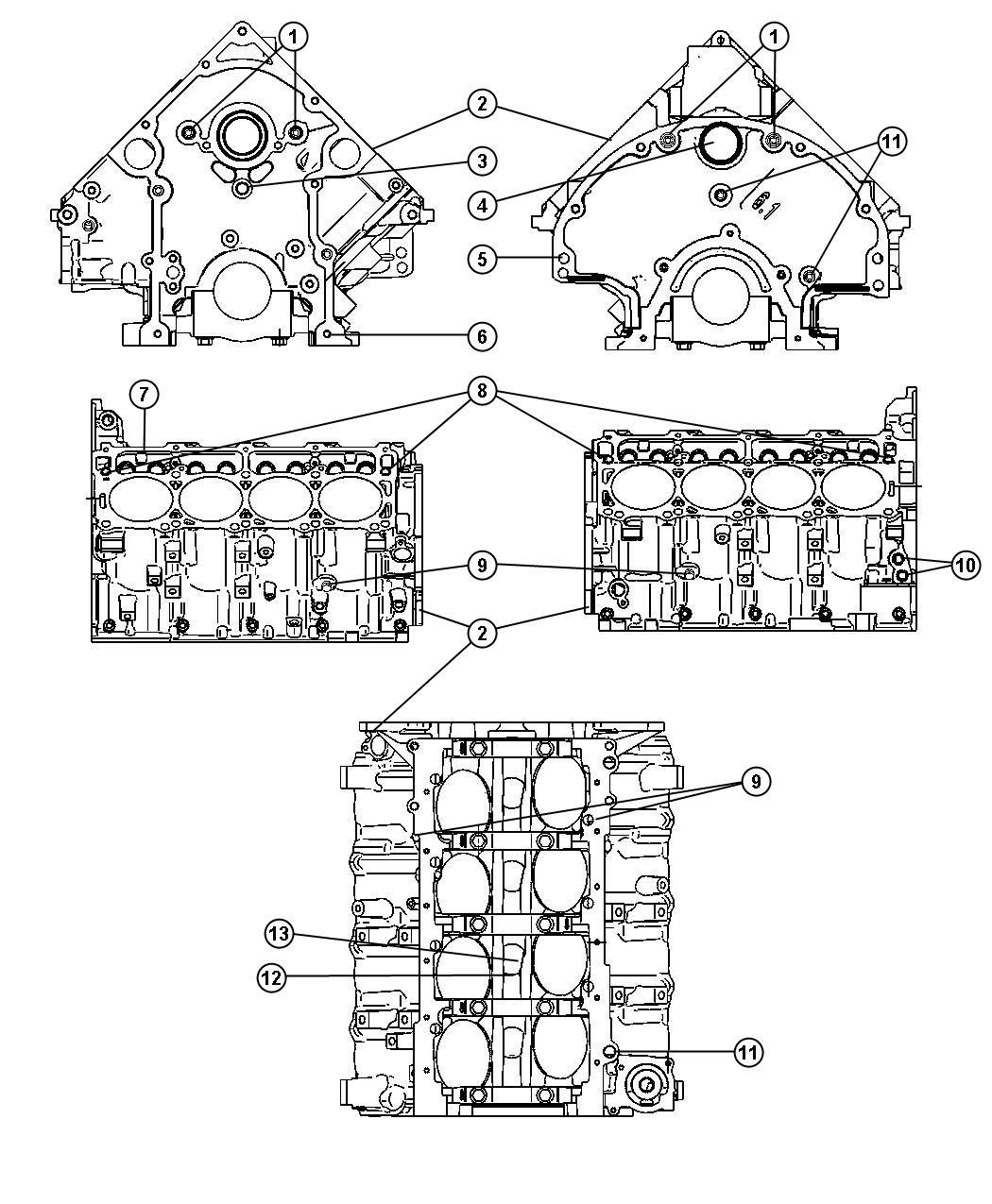 Dodge Magnum Engine Short Block Remanufactured See