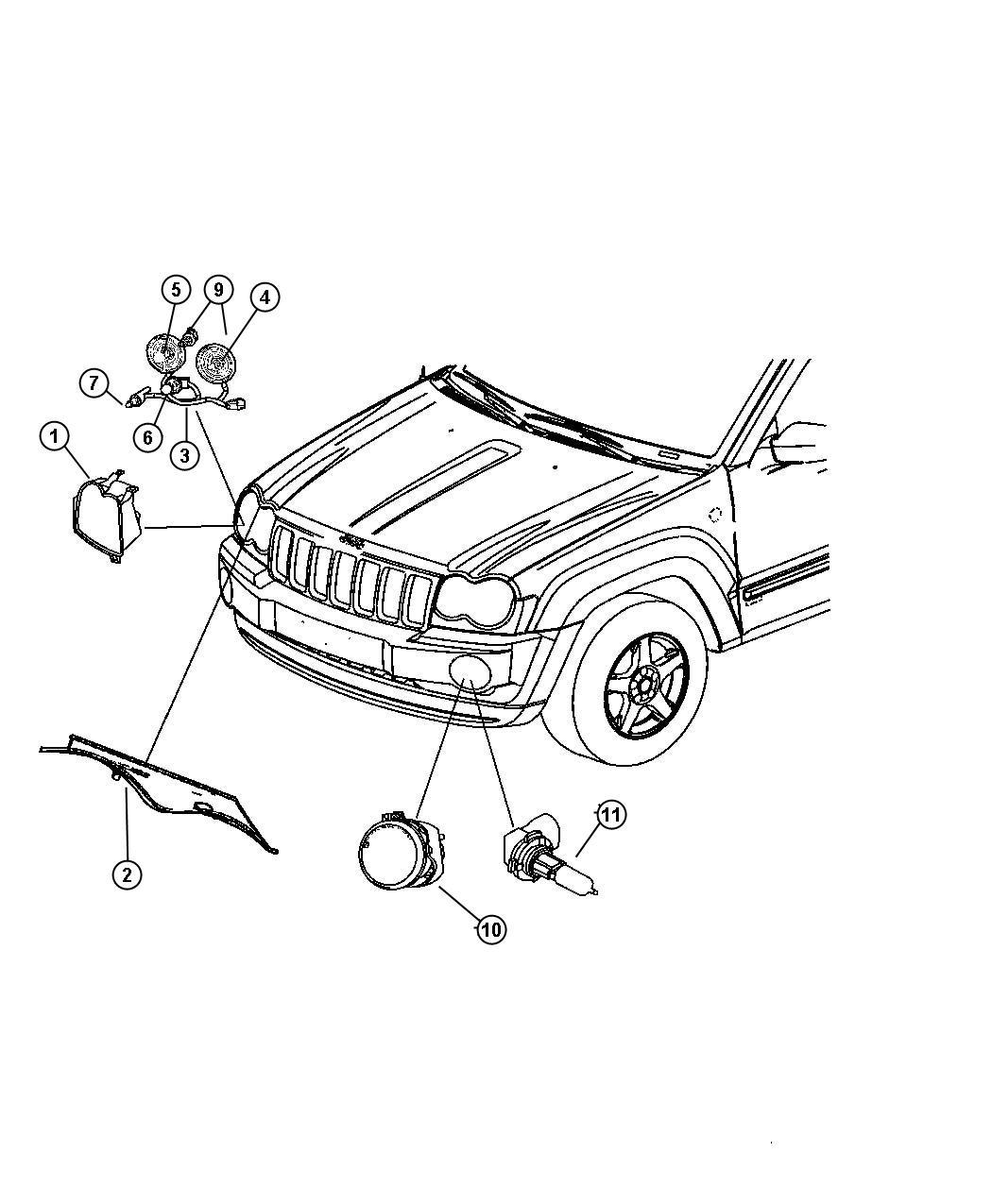 Dodge Durango Wiring Headlamp Right Or Left Front