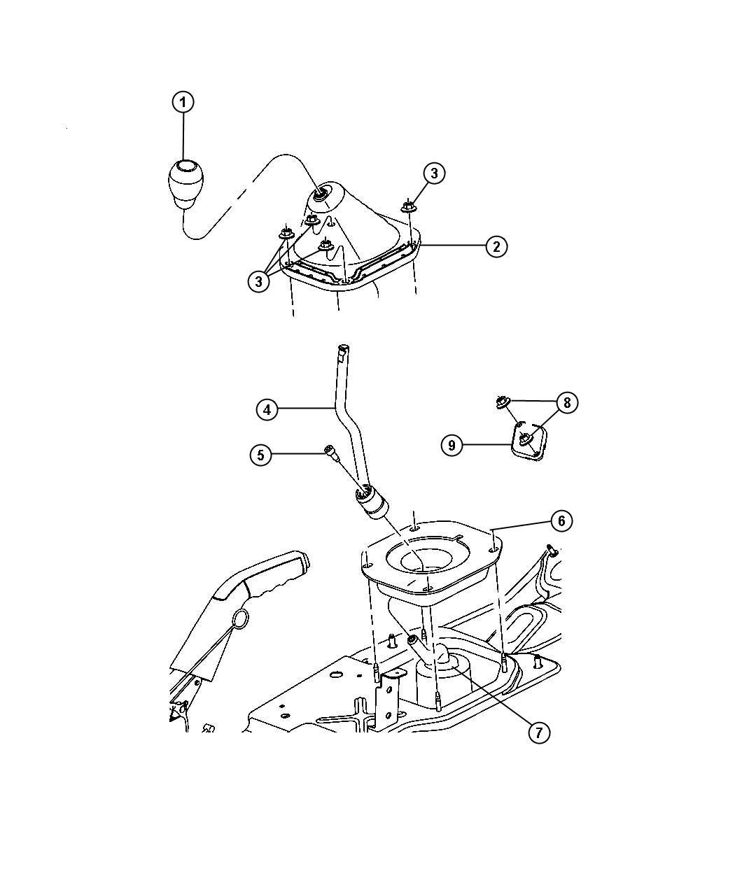 Dodge Nitro Lever Gearshift