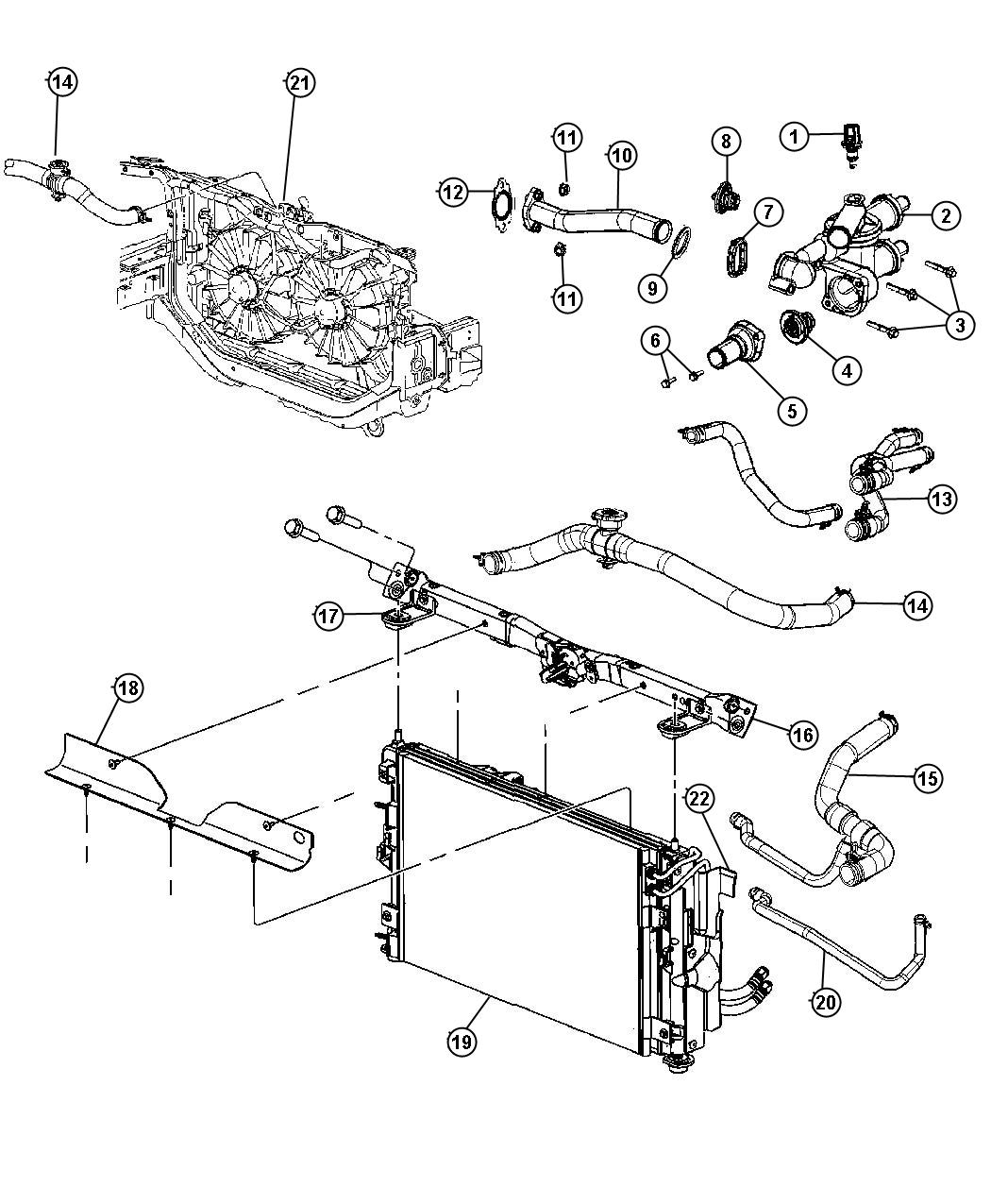 Chrysler Sebring Hose Used For Heater Supply And