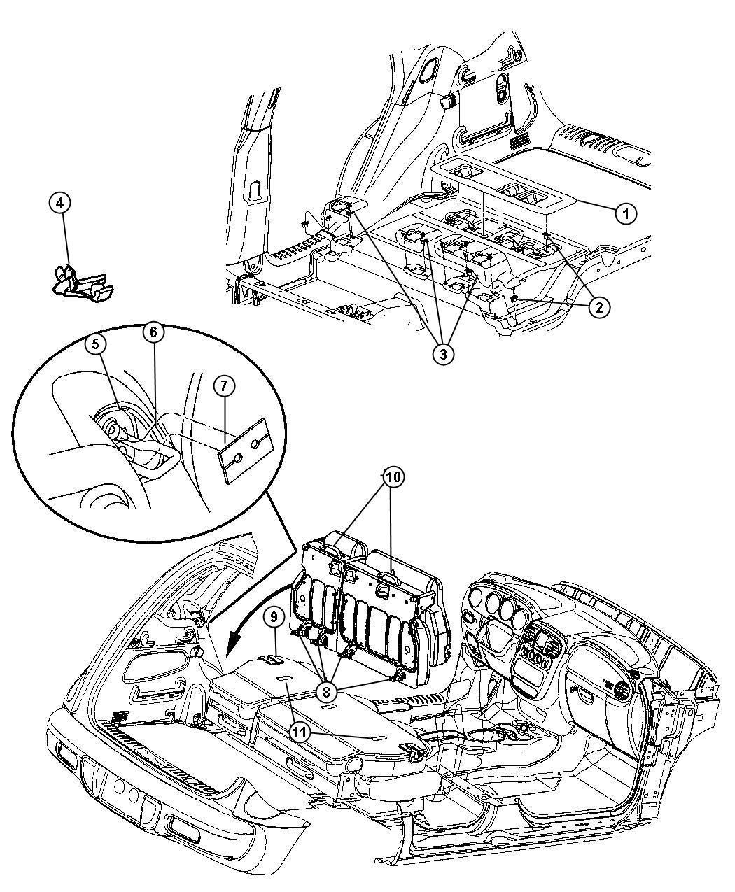 Chrysler Pt Cruiser Bezel Seat Latch Da Da