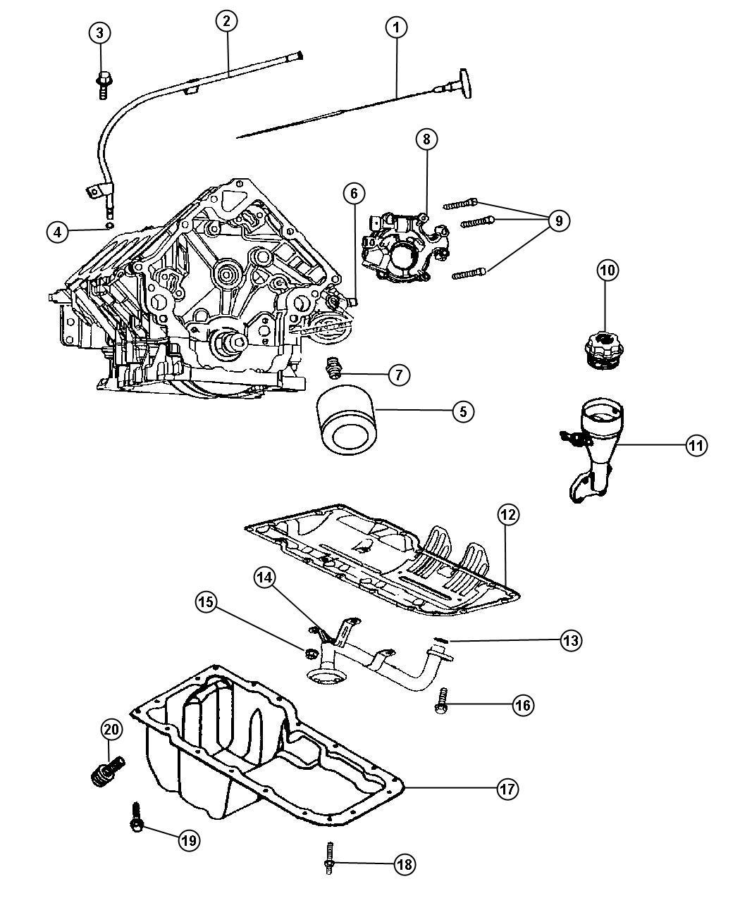 Chrysler Aspen Adapter Connector Oil Filter 3 4 16