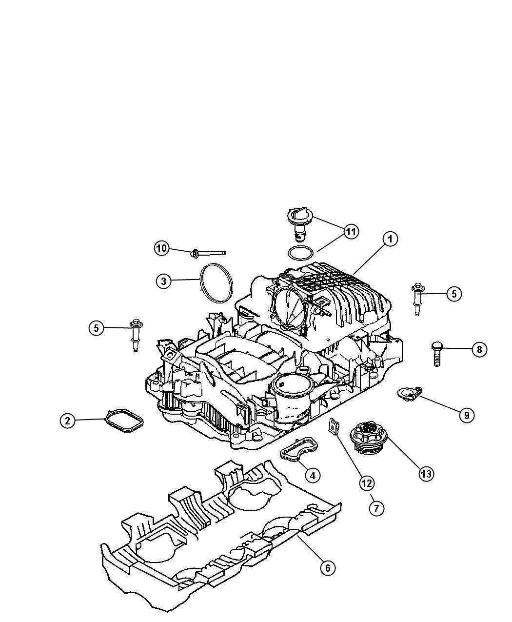 Chrysler Aspen Manifold Package Intake Cab Manifolds