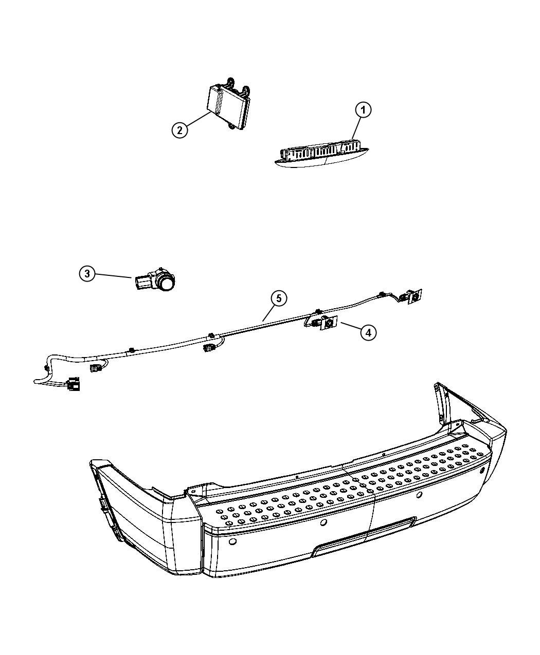 Dodge Nitro Wiring Rear Fascia Park Assist Sensor
