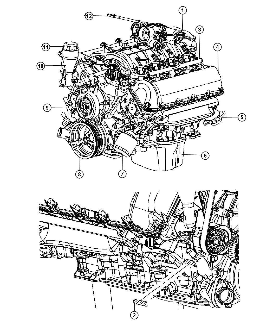 Dodge Ram Manifold Exhaust Left Eva Intake