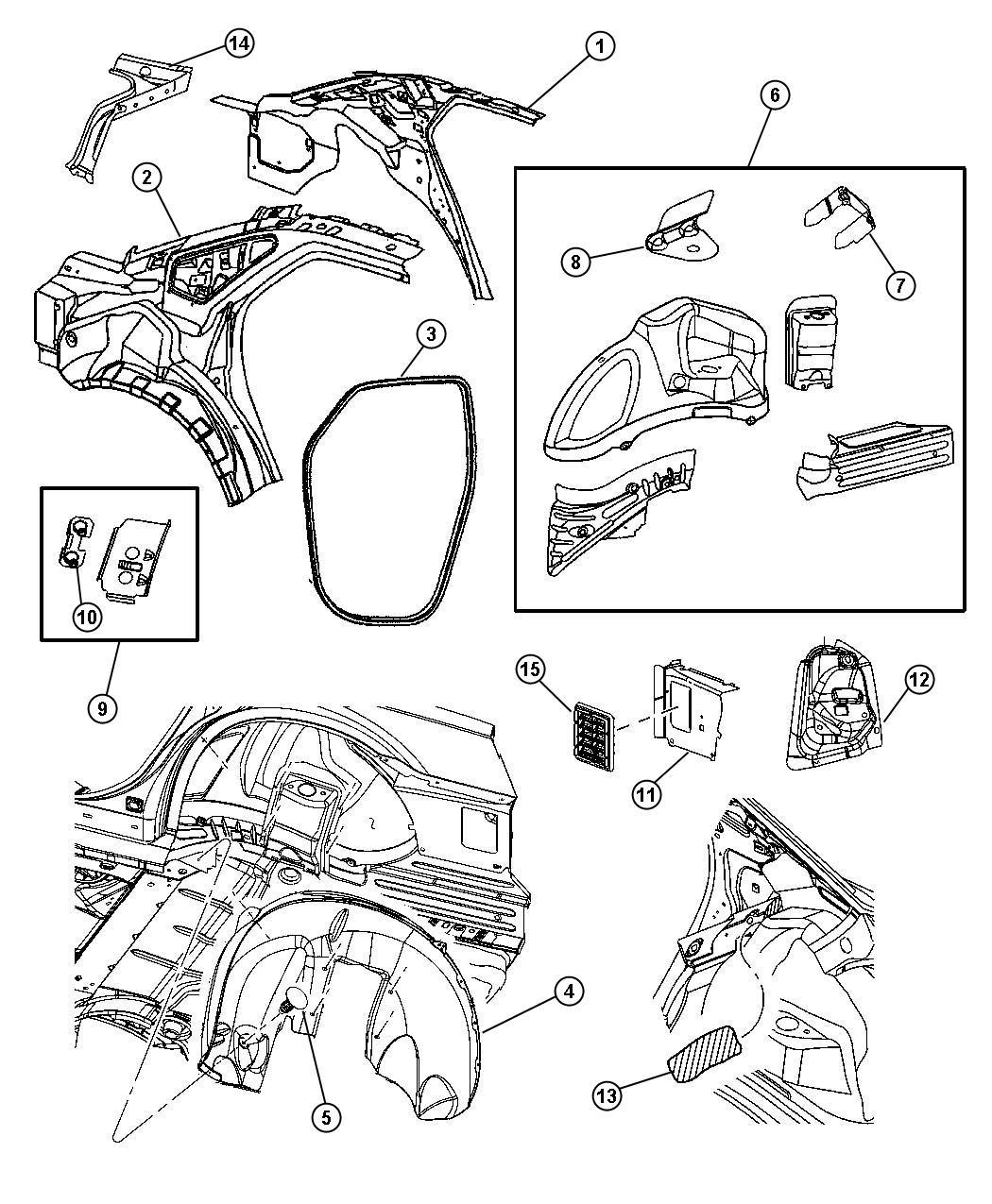 Dodge Nitro Panel Body Side Aperture Rear Quarter