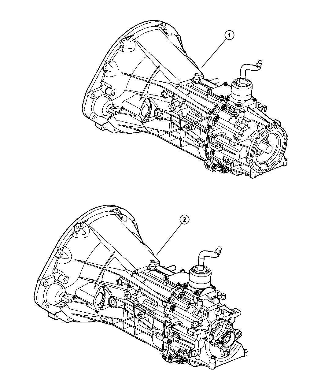 Dodge Dakota Trans 6 Speed 2wd Transmission Assembly