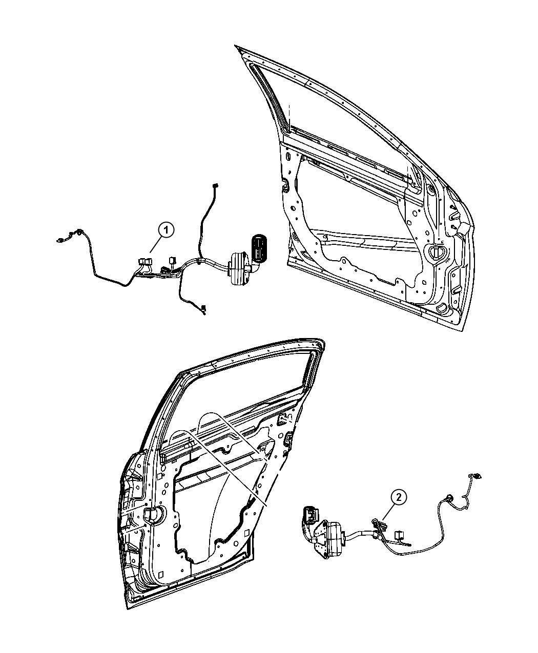 Chrysler Sebring Wiring Rear Door Right Or Left