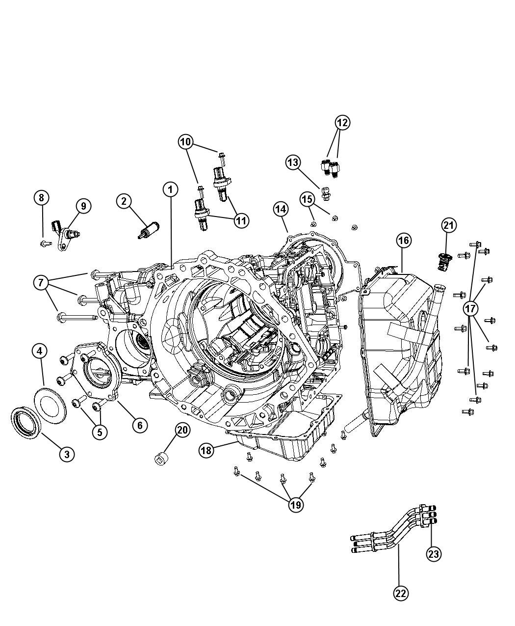 Chrysler Pacifica Speed Sensor Assy Transfer Cab
