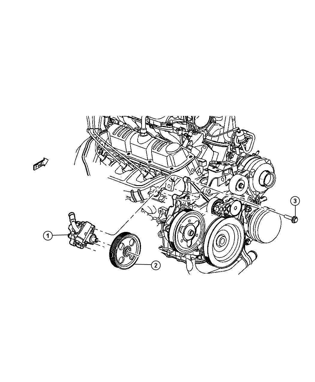 Chrysler Pt Cruiser Pump Power Steering Pinion